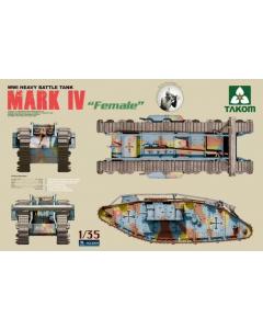 1/35  WWI  Heavy  Battle  Tank  MARK  IV  Female (TAK2009)