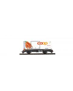 """H0m RhB Lb-v 7881 Containerwagen Coop """"Wortels"""" Bemo 2269127"""