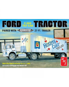 1/25 Ford C-900 Tractor w/ Trailer AMT 1221
