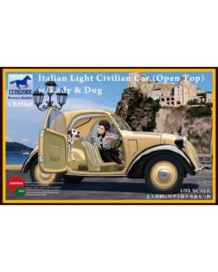 1/35 Italian Topolino (Open Top), Light Civilian Car w/Lady & Dog (BRO35165)