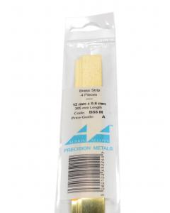 Messing Strip 0.6X12.0mm, 4 stuks Albion Alloys 5