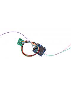 LokPilot V5.0 Functiedecoder DCC/MM/SX, 8-polig NEM652 met Kabel (ESU59210)