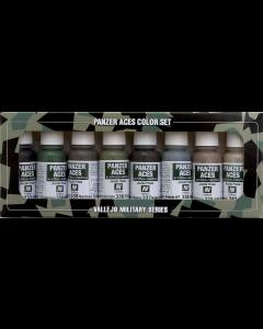 Panzer Aces Set #5, German Tank Crew Uniforms, 8 kleuren - Vallejo 70128 (VAL70128)