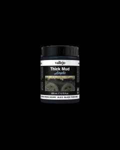 Black Splash Mud, Thick Mud 200ml - Vallejo 26812 Vallejo 26812
