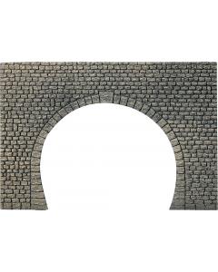 H0 Tunnelportaal, natuursteen Vierkant, Dubbelspoor Faller 170831
