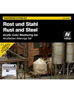 Rust & Steel Paint Set, 16 kleuren (VAL70150)
