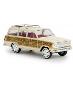 H0 Jeep  Wagoneer  hellelfenbein  - (BRE19857)