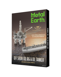 Metal Earth: Offshore Oil Rig & Oil Tanker Gift Set - MMG105 (MEA570105)