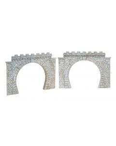 H0 2 tunnelportalen, stoomlocs en bovenleiding Faller 120565