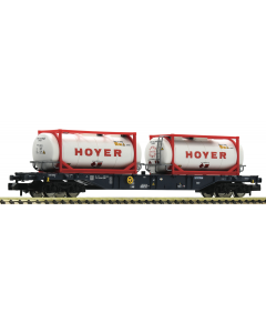 N CEMAT Containerwagen, met tankcontainers
