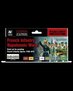 French Infantry Napoleonic Wars Model Color Paint Set, 8 kleuren - Vallejo 70164 Vallejo 70164