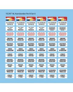 H0 NL Koersborden tijdperk III, set A - Artitec 10.347 Artitec 10347