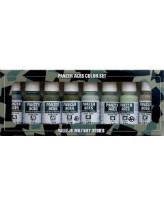 Panzer Aces Set #4, Russian, Italian & Japanese Tank Crew Uniform, 8 kleuren - Vallejo 70127 Vallejo 70127