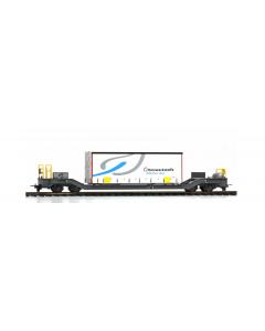 """H0m RhB Sbk-v 7704 Containerwagen mit Planenbehälter """"Gfeller"""" Bemo 2289164"""