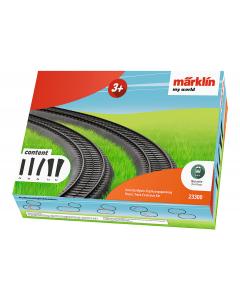 H0 My World Rails (Kunststof) Uitbreidingsset - 4x 188,3mm, 7x 171,7mm, 2x Gebogen Rails (wisselboch Marklin 23300