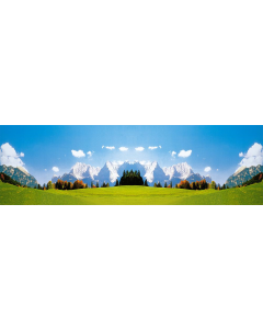 Modelachtergrond Karwendelgebirge, 320 x 97cm (FAL180513)