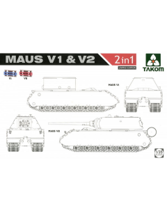 1/35  German  Maus  V1  &  V2    2in1 (TAK2050X)