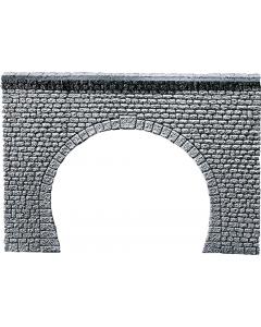 H0 Tunnelportaal natuursteenblokken, Dubbelspoor Faller 170881