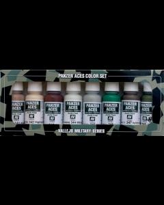 Panzer Aces Set #6, Skintones, White, Splinte Camouflage, 8 kleuren Vallejo 70129