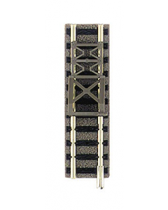 N Stootblok met rails, lengte 57,5mm  (met grindbedding) (FLE9116)