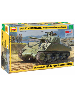"""1/35 M4A2 """"Sherman"""" 75mm (ZVE3702)"""