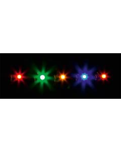 5 LED-lampjes, in verschillende kleuren 12-16V Faller 180652