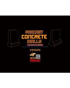 1/35 Concrete Walls (resin) Meng 031