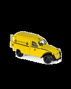 """1/43 Citroen 2CV AZU 1959 """"Wegenwacht"""", yellow Norev 151413"""