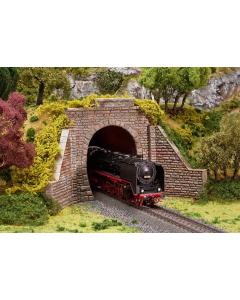 H0 Tunnelportaal, stoom en bovenleiding Faller 120559