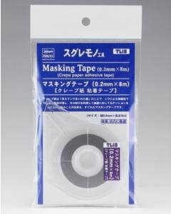 TL18 Afplaktape 0.2mm, 8 meter - Hasegawa 71048 Hasegawa 71048