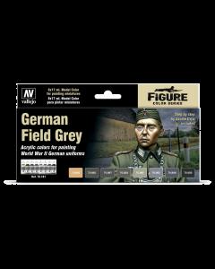 German Field Grey Model Color Paint Set, 8 kleuren (VAL70181)