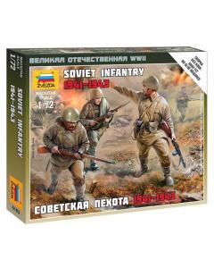 "1/72 Soviet Infantry (1941-1943), snap fit ""Art of Tactic"" (ZVE6103)"