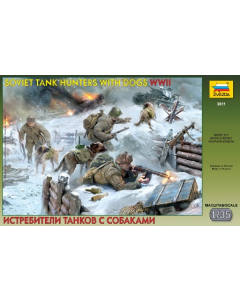 1/35 Soviet Tank Hunters with Dogs WWII (1941-1943) (ZVE3611)