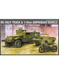 1/72 M3 Half Track & 1/4ton Amphibian Vehicle (ACA13408)