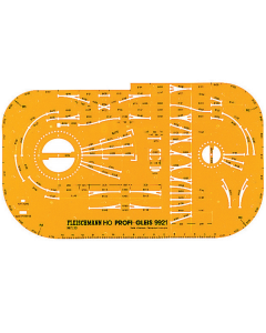 H0 Spoorplan Tekensjabloon PROFI-Rails Fleischmann 9921