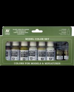 Building Model Color Paint Set, 8 kleuren - Vallejo 70137 Vallejo 70137