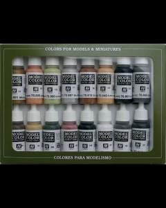 German Colors WWII Model Color Paint Set, 16 kleuren Vallejo 70107
