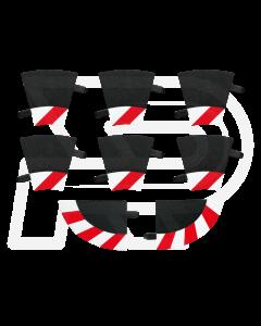 132/24 Slipstrook Binnenrand R1 30°, 6 stuks + 2 eindstukken (CAR20590)