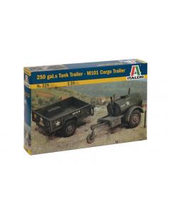 1/35 US 250 Gal.S Tank Trailer + M101 Cargo Trailer (ITA0229)