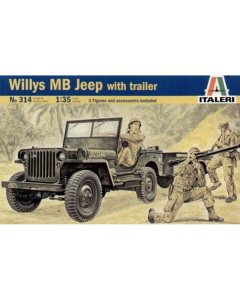 1/35 Willys MB Jeep with Trailer (ITA0314)