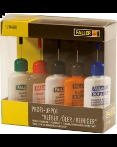 Profi-depot Lijm, olie en reinigingsvloeistof, elk 25 ml (FAL170480)