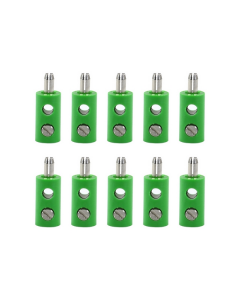 """Stekker """"Groen"""", 10 stuks (BRA3053)"""