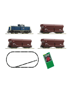 N Startset Analoog, DB Dieselloc BR 212 met goederenwagons (FLE931705)