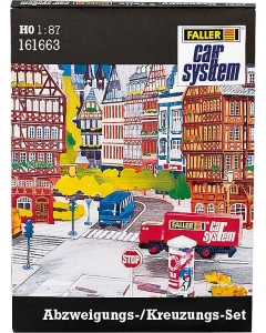 H0 Car System: Wegdek Set Wegsplitsing/Kruispunt Faller 161663
