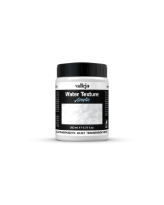 Transparant water, Water Texture 200ml  - Vallejo 26201 (VAL26201)
