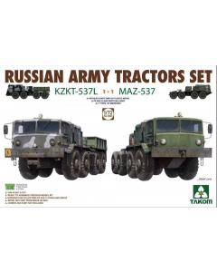 1/72 Russian Army Tractors Set KZKT-537L 1+1 MAZ-537 (TAK5003)