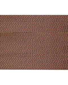 H0 Muurplaat Zandsteen Rood, 370 x 125 x 6 mm (2 x) Faller 170806