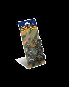 Verfset Camouflagekleuren, 6x14ml Revell 32340