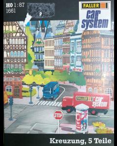 H0 Car System: Wegdek Wegsplitsing R1, 212mm, Links en Rechts Faller 161662