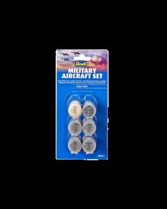"Aqua Verfset ""Militaire Vliegtuigen"", 6 stuks - Nr. 5, 9, 76, 90, 91 en 99 Revell 39071"